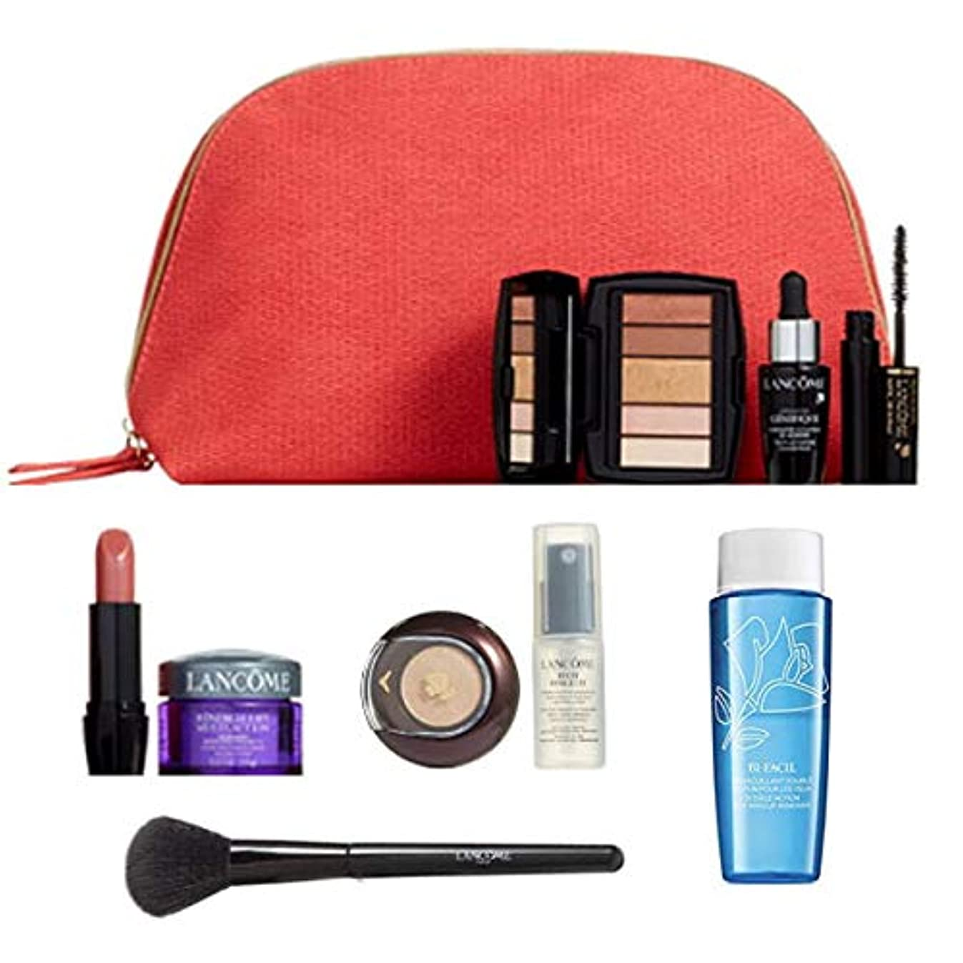 脈拍のタイヤランコム(LANCOME), Pouch + Mini Cosmetic 8/set + Blush brush [海外直送品] [並行輸入品]