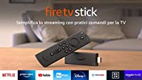 Fire TV Stick con telecomando vocale Alexa (con comandi per la TV), Streaming in HD, modello 2020