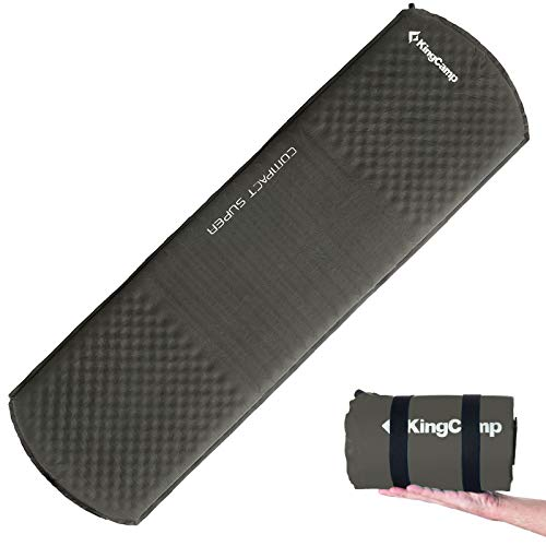 KingCamp Thermo Iso Matte Compact TPU Luftmatratze Selbstaufblasend 1 kg Leicht Slate Grey