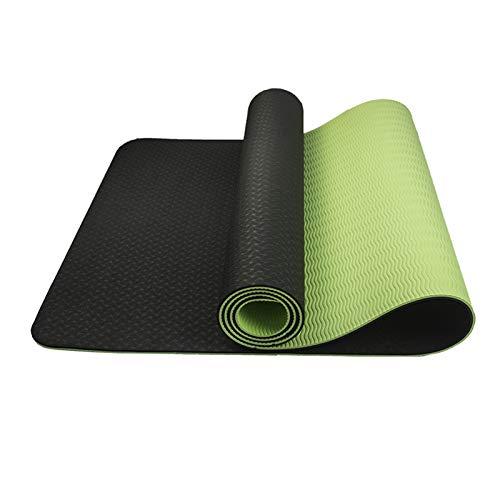 Hatonky Esterilla Yoga Antideslizante Colchoneta Yoga TPE Esterilla Deporte Esterilla Pilates 183cm x 61cm x 0.6cm