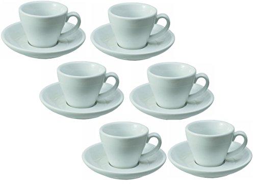 Espressotasse Doppio Italia inklusive Untertasse 6er Pack