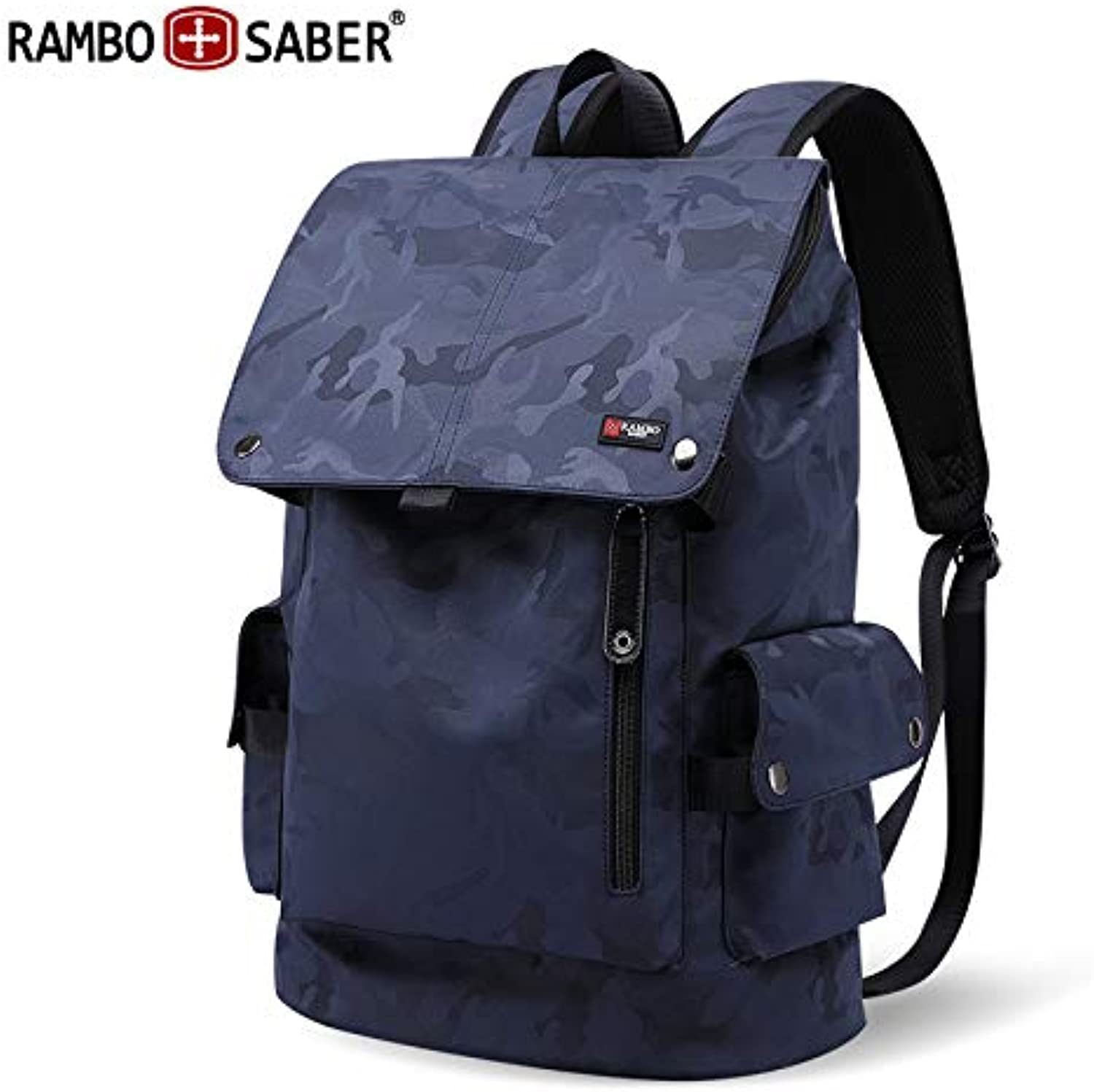 Rambo Swiss Army Knife Backpack Men's Travel Hiking Backpack Casual Computer Bag Trend College Student Bag