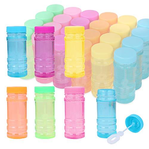 YouCute Bubbles 24 Pack 2oz Party Favor for Kids Bulk Bubble Solution Blowing Wand 2 Dozen Party...