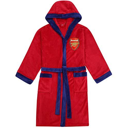 Arsenal FC - Herren Fleece-Bademantel mit Kapuze - offizielles Merchandise Fußballfans - Rot - L