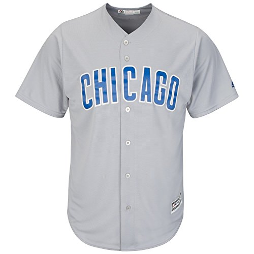 Majestic Chicago Cubs Cool Base MLB Trikot Road Grau XL