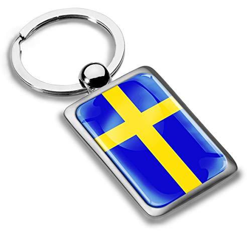 3D Metaal Zweden Vlag Sleutelhanger Sleutelhanger Accessoires Mannen Vrouwen Sleutelhanger Gift KK 233