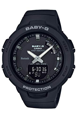[カシオ] 腕時計 ベビージー FOR SPORTS 歩数計測 Bluetooth 搭載 BSA-B100-1AJF レディース ブラック