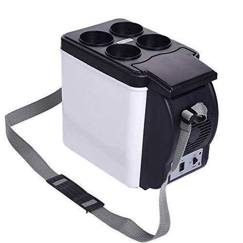 XDLUK Mini frigorífico congelador de 12 voltios para Conducir, Viajes, Pesca, refrigerador Compacto de 6 litros/Calentador Refrigerador pequeño para Autos, Viajes por Carretera
