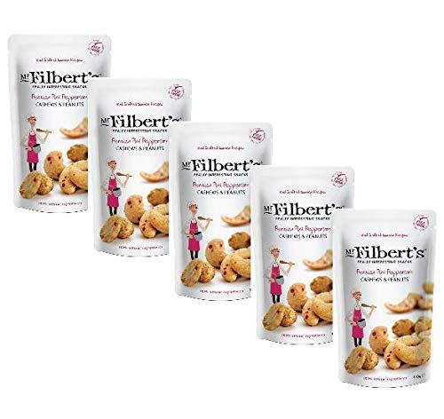 Mr. Filberts geröstete Cashewnüsse und Erdnüsse mit Meersalz und peruanischem rosa Pfeffer - 5 x 110 Gramm