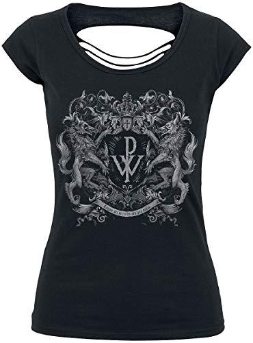 Powerwolf Crest Frauen T-Shirt schwarz XL 100% Baumwolle Band-Merch, Bands