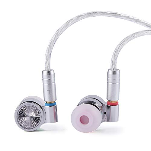 Linsoul TIN HiFi T4 10mm Carbon Nanotube Dynamic Driver In-Ear Monitor Earphones, Ultra-Sleek Metal Housing, with Silver-Plated MMCX Cable
