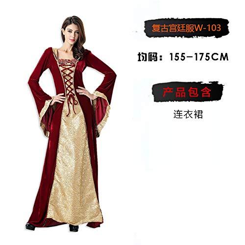 MYing Halloween-Kostüm Erwachsene Hexe Cosplay Show Fledermaus Rotkäppchen Piraten Vampir Prinzessin Kleid Female-5