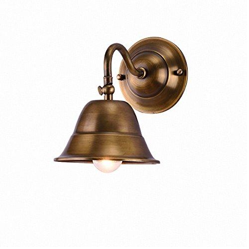 ZWL Retro Pure Copper Living Room Lampe murale Lampe de chevet de la chambre à coucher Lampe frontale au miroir, E27 Art Tout Bronze, elle peut déplacer la tête murale 16 * 19CM Lampe murale Corridor Coureur Lampe murale mode ( taille : 16*19CM )