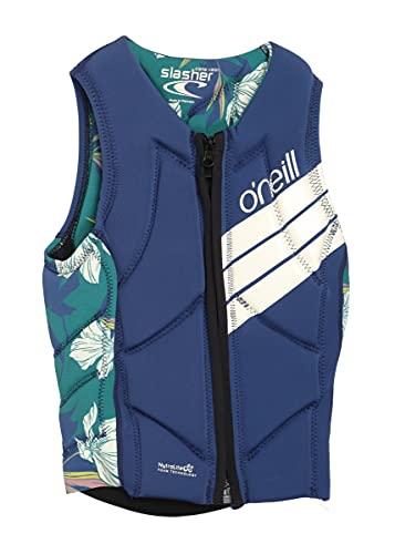 ONeill Womens Slasher Comp Watersports Waterski Jetski Wakeboarding Safety Impact Vest - Top - Azul Navy Bridget
