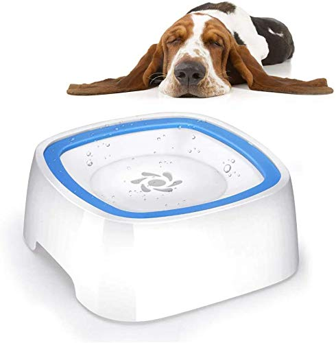 YOUTHINK Hunde Wasserschale 1,5 L Hundenapf Nicht Verschüttete Wasserschale für Haustiere mit schwimmendem Teller aus lebensmittelechtem Material für Hunde/Katzen die kein nasses Maul mehr Haben