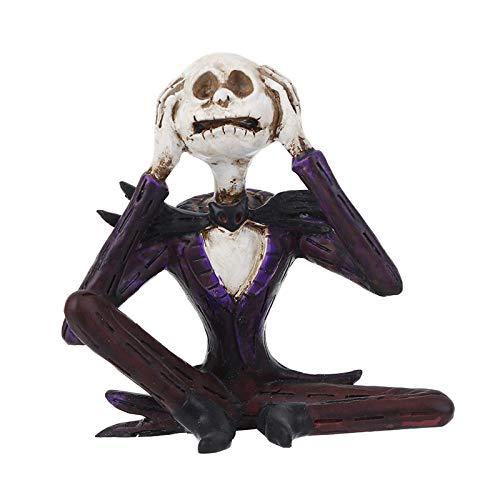 ZKPDX Estatuas Adornos Artesanales De Resina De Hueso De Cabeza De Halloween Tres Regalos No Pequeños Accesorios Creativos para El Hogar Pintura