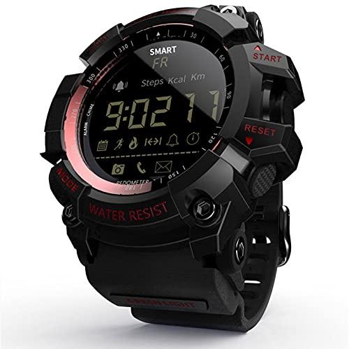 Skyeen MK16 Reloj Inteligente Militar Resistente IP67 / 5ATM Impermeable EL Luminoso Deportes BT Reloj Inteligente podómetro Actividad Fitness Seguimiento cámara remota Alarma para Android/iOS