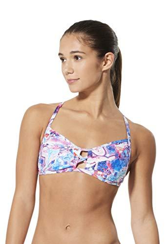 Speedo Women's Swimsuit Top Bikini Endurance Lite Tie Back Print