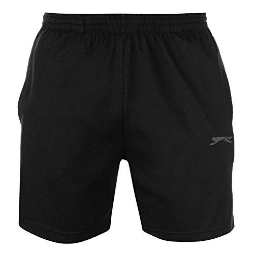 Slazenger - Pantalones cortos de tejido de punto para hombre Negro  L