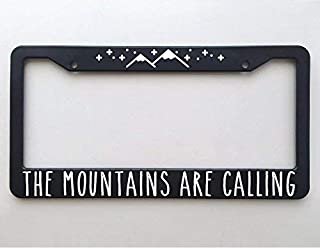 ClustersNN Bhartia Mountains are Calling Chrome License Plate Frame Stainless Metal Tag Holder 12