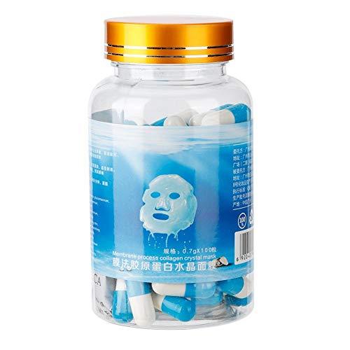100 Unids Hidratante Cápsula De Colágeno Mascarilla Anti Envejecimiento Aclaramiento Eliminación Del Acné Mascarilla Facial