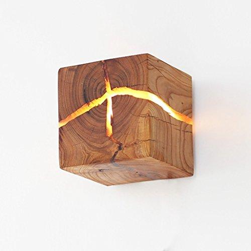 Hölzerne Riss Wand Lampen, Massivholz LED Nachttisch Lampen Gang helles Dekoration-Nachtlicht