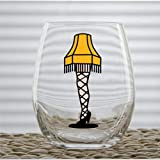 A Christmas Story Leg Lamp Funny Stemless Wine Glass custom Whiskey Glass custom Shot Glass,15 oz