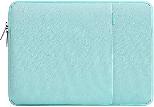 Gahwa Funda Protectora Compatible con 14-15 Pulgadas MacBook Air/MacBook Pro/Ordenador Portátil, Bolsa Blanda de Repelente de Agua de Estilo Vertical, Anti-rasguños Antigolpes - Verde