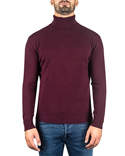 CASH-MERE.CH 100% kasjmier heren pullover | sweater rolkraag 2-dradig
