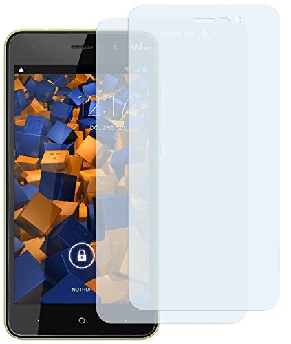 mumbi Schutzfolie kompatibel mit Wiko Lenny 4 Folie klar, Bildschirmschutzfolie (2X)