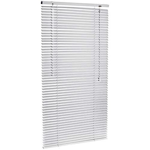Amazon Basics - Jalousie, Aluminium, 70 x 130 cm, Silber