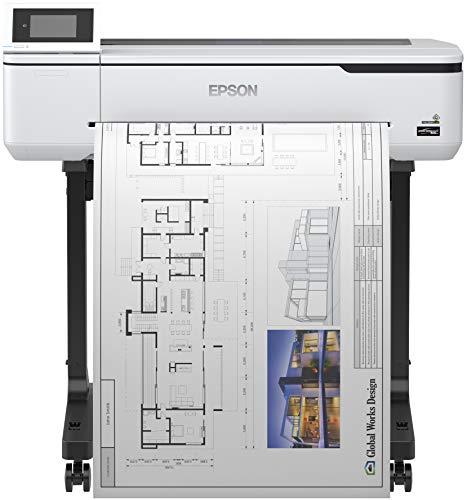 Epson SureColor SC-T3100 Tinten-Großformatdrucker (für CAD/GIS/POS, Drucke bis DIN A1+, Rollendrucke bis 24 Zoll (61 cm/A1+), WiFi, Ethernet) weiß
