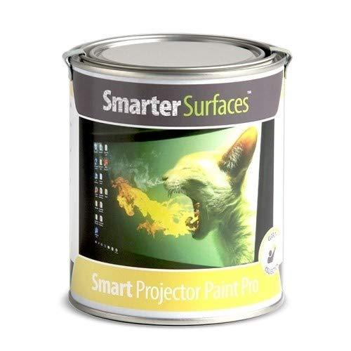 Pintura Proyector Smart Pro - 6m² - Pintura para proyectar en oficinas, Clases y conferencias proyectores HD y Normales - Valor de Ganancia 1.1 y ángulo de visión de 140 Grados - Color Blanco