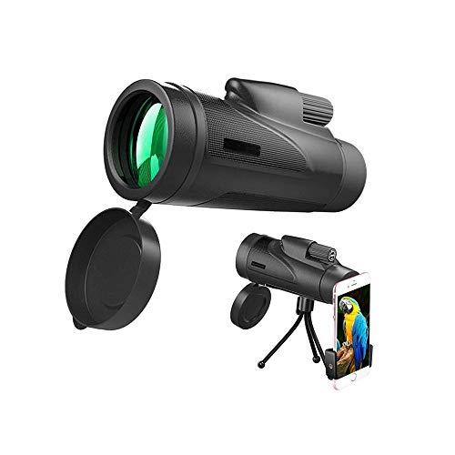 WCJ Telescopio monocular for Smartphone, Adecuado for el Senderismo y Acampada Caza, Telescopios en Adultos Observación de Aves Viajar Camping