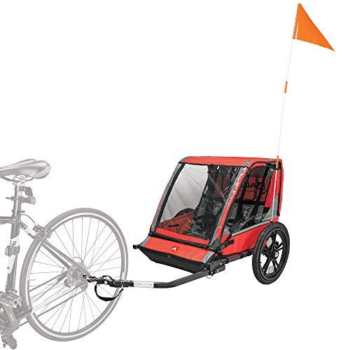 Allen Sports Hi-Viz 2-Child Bicycle Trailer, Model ET2-R, Red