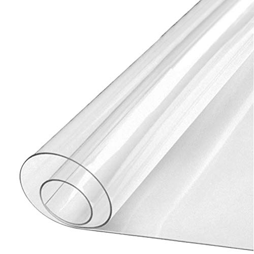 Protector de Mesa de PVC Transparente Protector de Pantalla, Ordenador Comedor Mantel Impermeable para Suelo de Madera, Esterilla, Mesa de café (50 x80 cm) ⭐