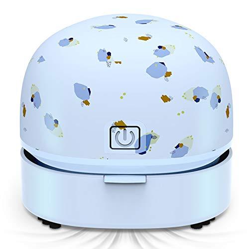 klm Aspirador de Escritorio, Mini Mesa de Mano Sweeper Sweeper USB Cargando, Mejor para Limpiar Migas, residuos de Borrador, Teclado, sofá ect, para el hogar/Escuela/Oficina.