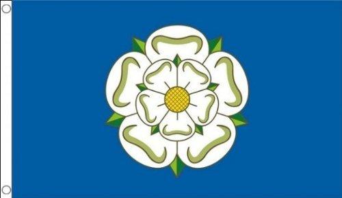 énorme. 2,4 x 1,5 m (240 x 150 cm) NEUF Yorkshire Rose Yorks Matière 100% polyester Drapeau Bannière Idéal pour pub Club école Festival Business Décoration de fête