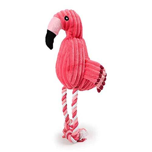 Rjx Ensemble De 3 Jouets pour Animaux De Compagnie en Laine De Coton Flamingo Jouet pour Chien Anti-déchirure en Coton PP De Haute Qualité Jouets pour Animaux Vocaux Créatifs (Size : 15×32 cm)