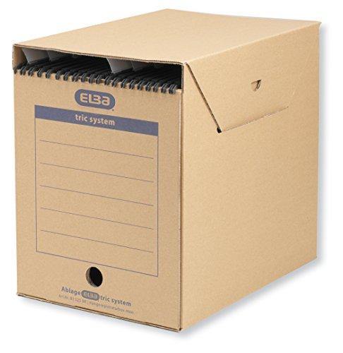ELBA tric system Hängeregister-Box Maxi, für Register mit Reitern, braun, 6 Stück