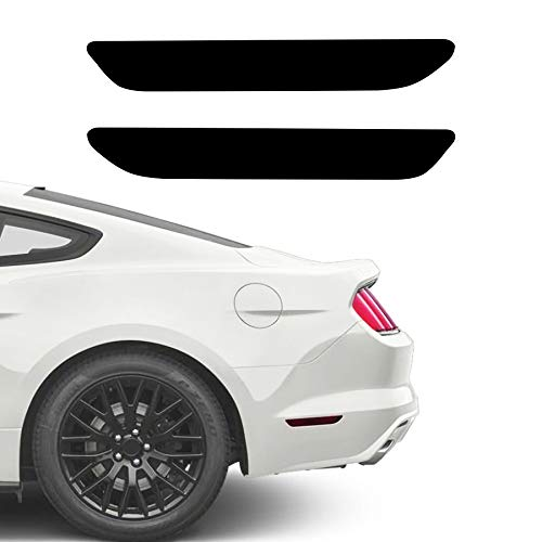 NDRUSH Blackout Side Marker Lights Vinyl Tint Film Precut Overlay Rear Sidemarker Wrap Cover Compatible with Ford Mustang 2015 2016 2017 2018 2019