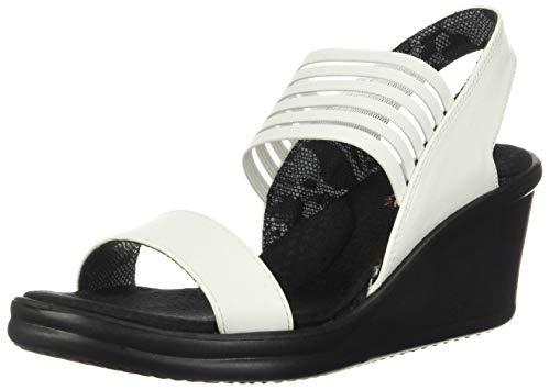 Skechers Rumbers-Sci Fi, Sandali con Cinturino alla Caviglia Donna, White, 40 EU