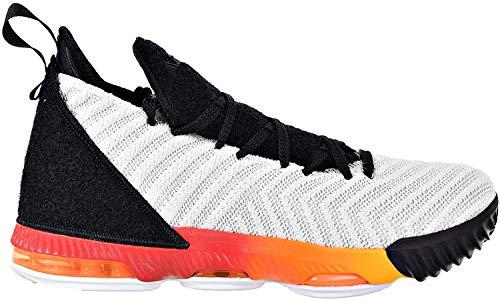 Nike Kid's Lebron XVI (GS) Basketball Shoes (7 Big Kid, White/Laser Orange)