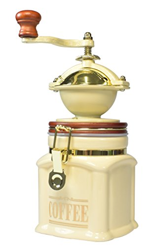 Bisetti Vivalto Coffee Grinder, Cream
