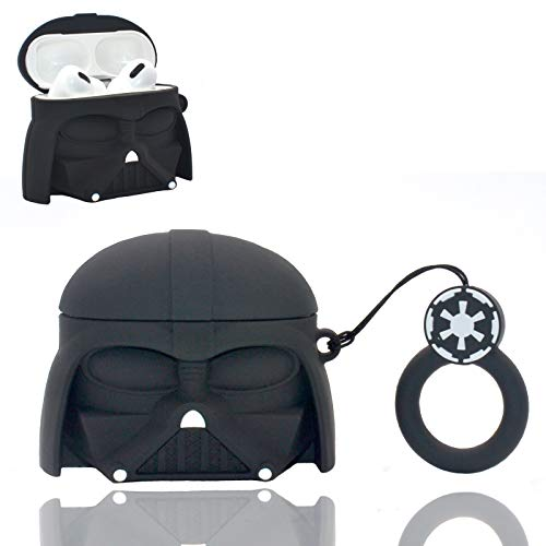 SUQII Airpod Pro Case,Darth Vader Anime Silicone Airpods 3 Cover.Cute Cartoon Cool Stylish Character Airpods Pro Charging Cover Accessories Shockproof Kits