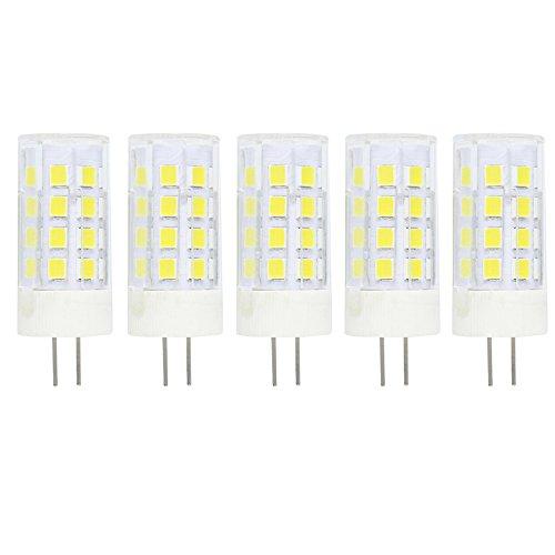 Lampadina LED G4 5W / 400LM,Equivalente a 40W Lampada Alogena, Bianco Freddo 6000K DC/AC 12V Trasparenti Confezione da 5