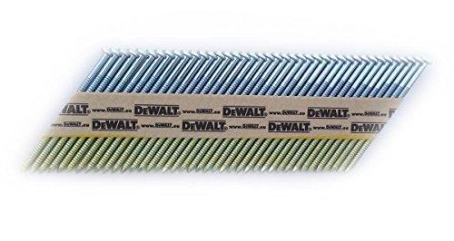 DeWalt Nagel (für Akku-Nagler, 34 Grad, D-Kopf-Nägel, drahtgebunden 2,8 x 50 mm Ringschaft, 2200 Stück) DNW28R50G12E