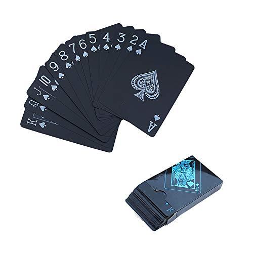 SJUNJIE Novedad Baraja Carta de Poker Juego de Cartas Plastico Impermeables Resistente a Las lágrimas Playing Cards Mágico para Niños y Adultos