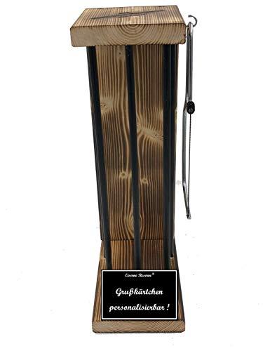 * Personalisierbar - Eiserne Reserve ® Black Edition - Rohling zum SELBST BEFÜLLEN Größe L - incl. Säge zum zersägen der Stäbe - Die Geschenkidee