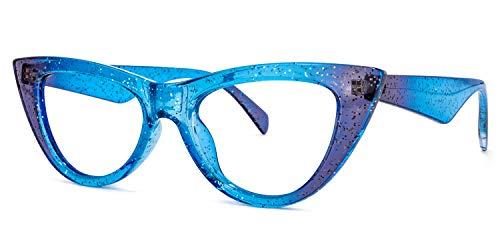 Voogueme Mermaid Cat Eye Frame Blue Light Blocking Glasses for Women Anti UV...